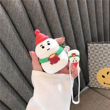 Для airpods 2 Чехол 3d милый мультяшный Рождественский Снеговик