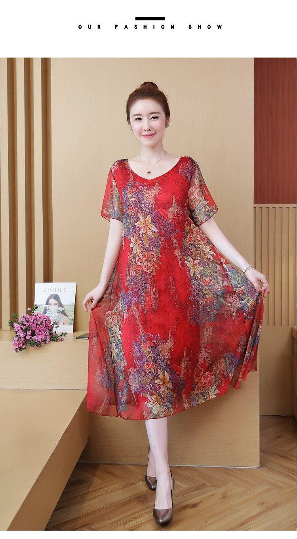 NYFS 2021 New Summer dress Loose dresses for women Vestidos Robe Elbise Fashion Printing Woman dress L-5XL 6