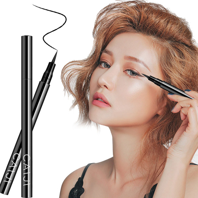 Liquid Eyeliner Black Waterproof Quick-drying Definer Durable Eyeliner Pencil Not blooming not easy to remove makeup TSLM1 4