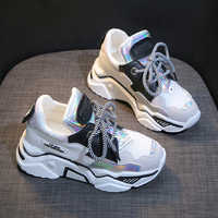 New Platform Sneakers Women Stylish Thick Sole Running Shoes Height Increasing 7.5 CM Casual Chunky Shoes Woman Chaussures Femme