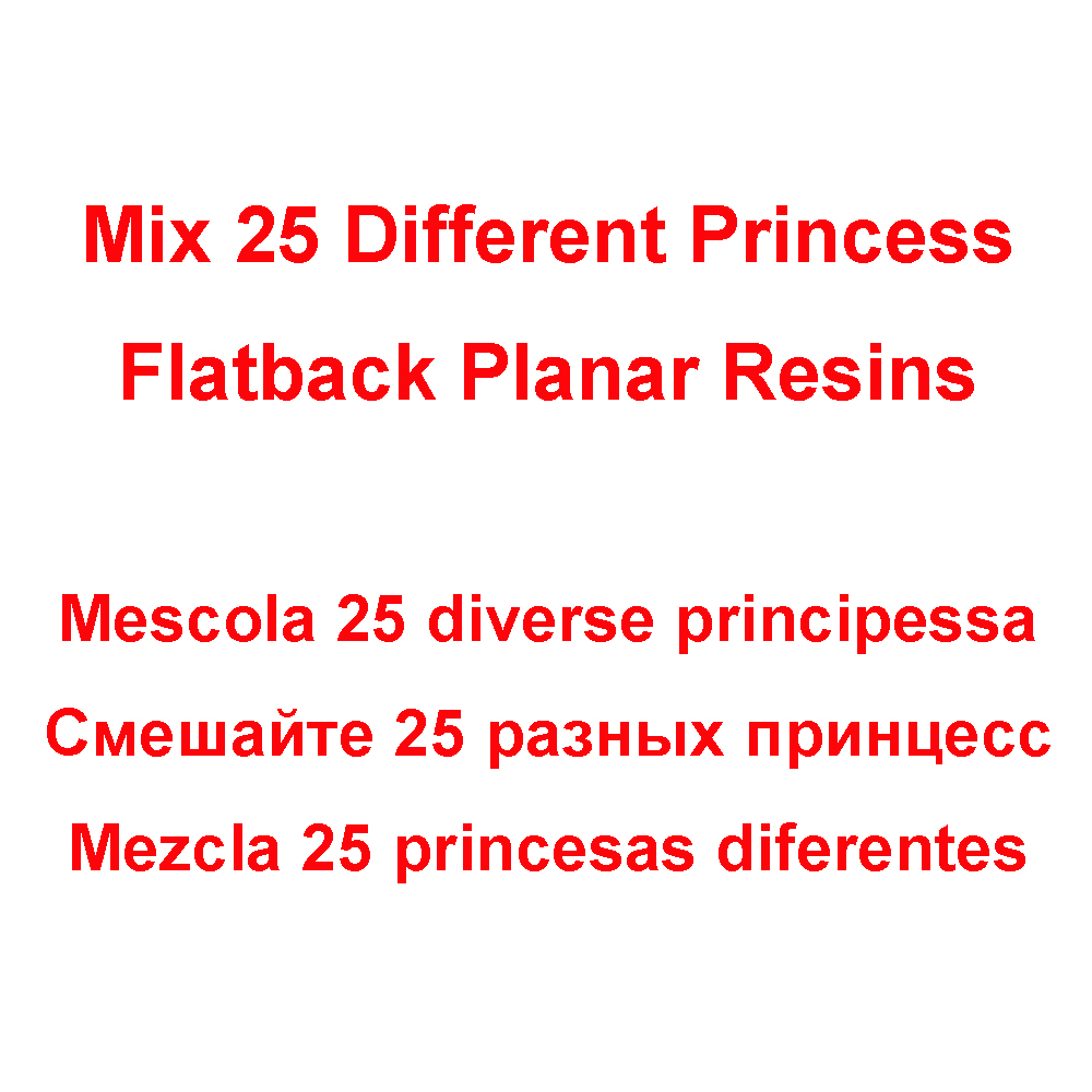 50pcs/100pcs Mixed 25 Different Styles Cartoon Character Princess Girls Flatback Planar Resin Cabochon for Hair Bow Centers(China)