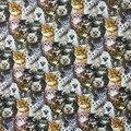 Изображение животных милая группа кошек узор 100% хлопок ткань цифровая печать швейный материал детская ткань Diy платье одежда
