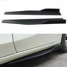 Пара 74,5 см автомобиля углеродного волокна боковые юбки рокер сплиттеры диффузор крылья крыльев