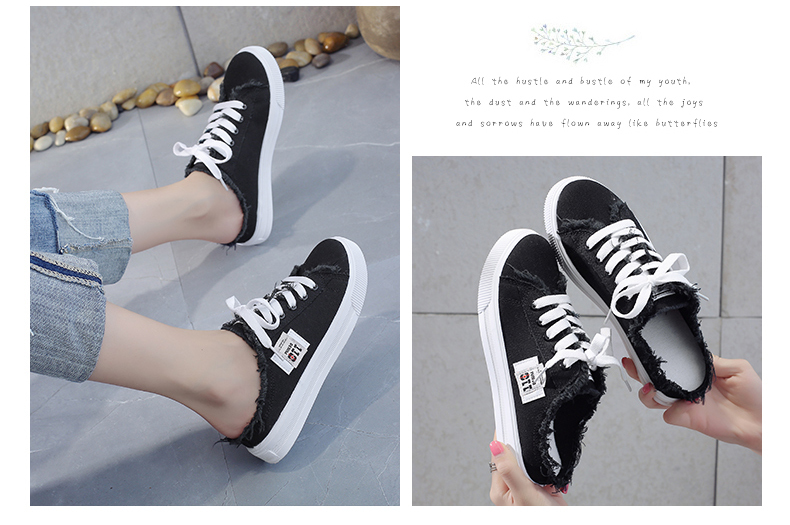 Hot New 2020 Spring Summer Women Canvas Shoes flat sneakers women casual shoes low upper lace up white shoes 35-41
