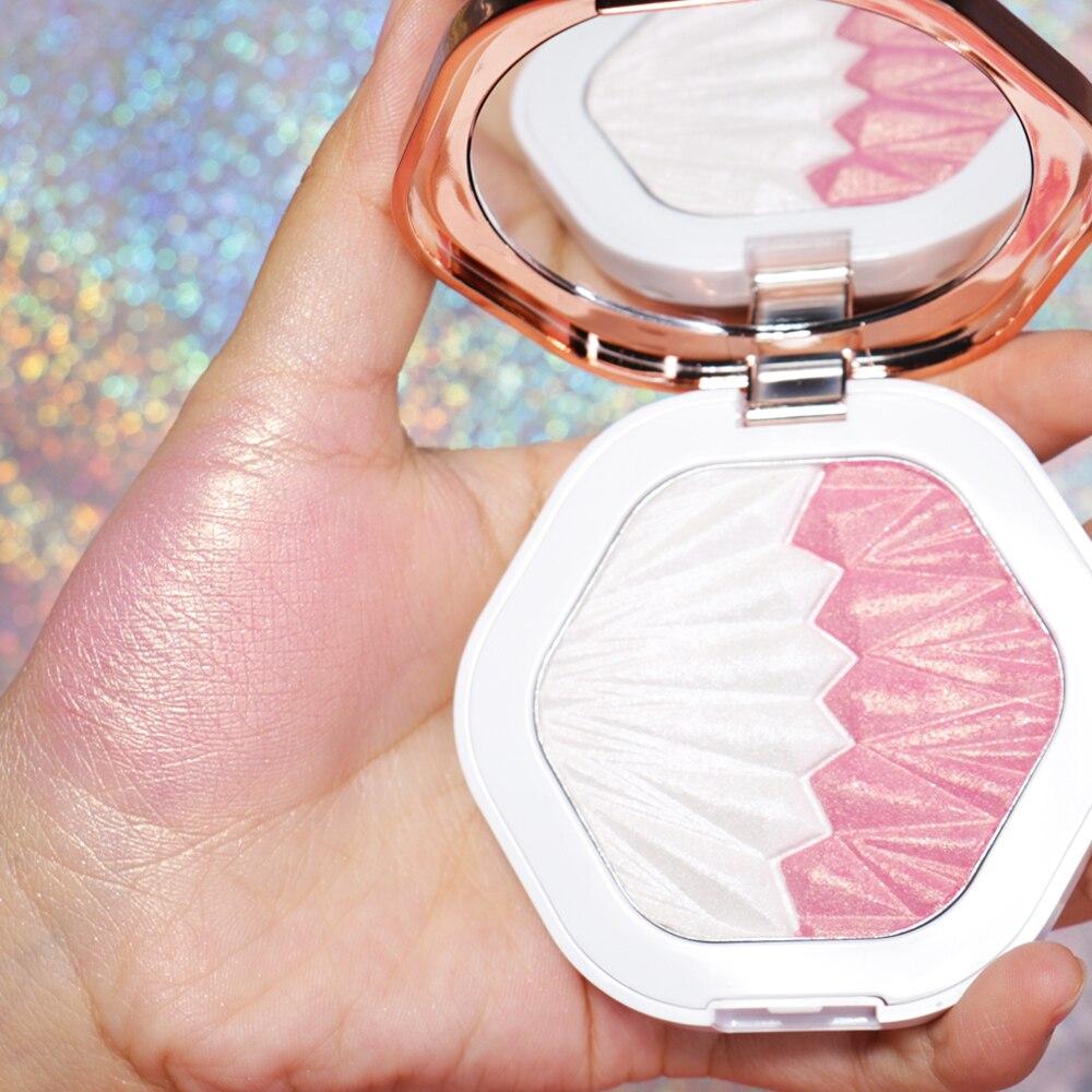 O.TWO.O Shell Highlighter Make-Up Für Körper Gesicht Radiance Lange Anhaltende Fluoreszenz Contouring Textmarker Pulver Palette Bronzer