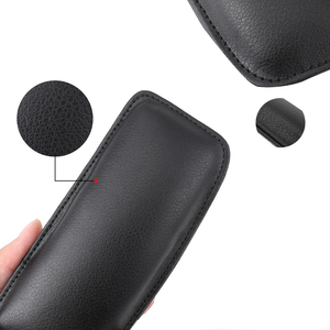 Image 4 - 1pcs 18x8cm Leather Knee Pad Car Interior Pillow Comfortable Elastic Cushion Memory Foam Universal Thigh Support Car Accessories
