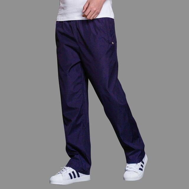 Plus Size 6XL Men's Summer/Autumn Pants Men Casual Pants Mens Breathable Quick Dry Trousers Male Loose Wide Leg Pants AM412 5