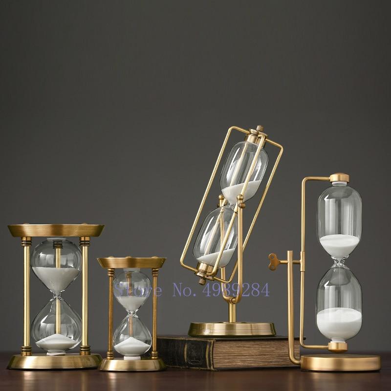 Gold Metal Gl Hourgl Crafts