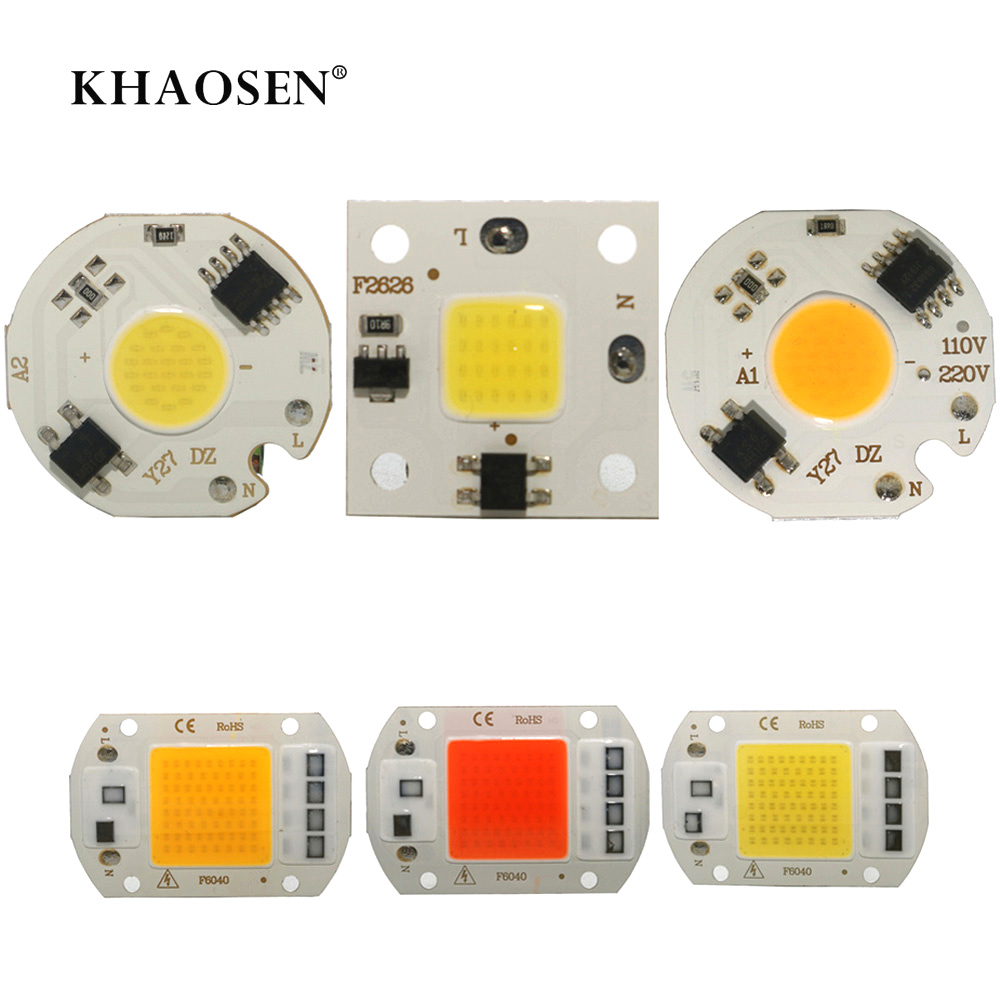 220V LED COB Chip 20W 30W 50W Smart IC No Need Driver 3W 5W 7W 10W LED Bulb Lamp For Flood Lighting Spotlight Lamp Source