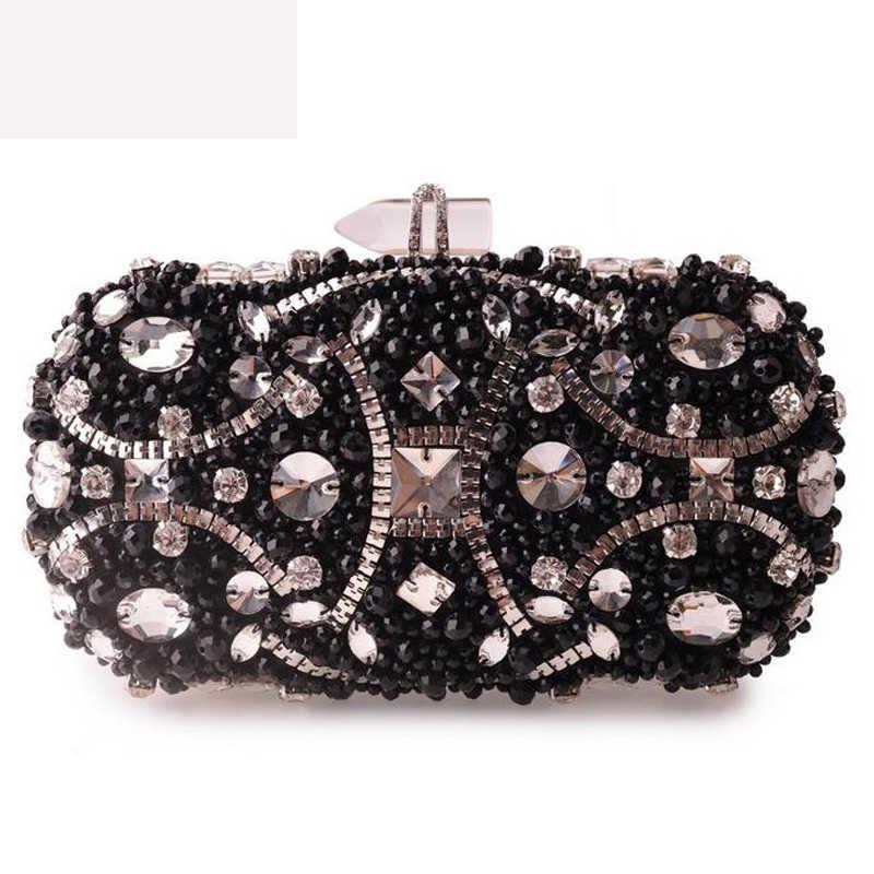 XIYUAN, модный клатч, стразы, женские вечерние сумки, на цепочке, на плечо, клатч, маленький кошелек, сумки, серебро, золото, черный, кошелек