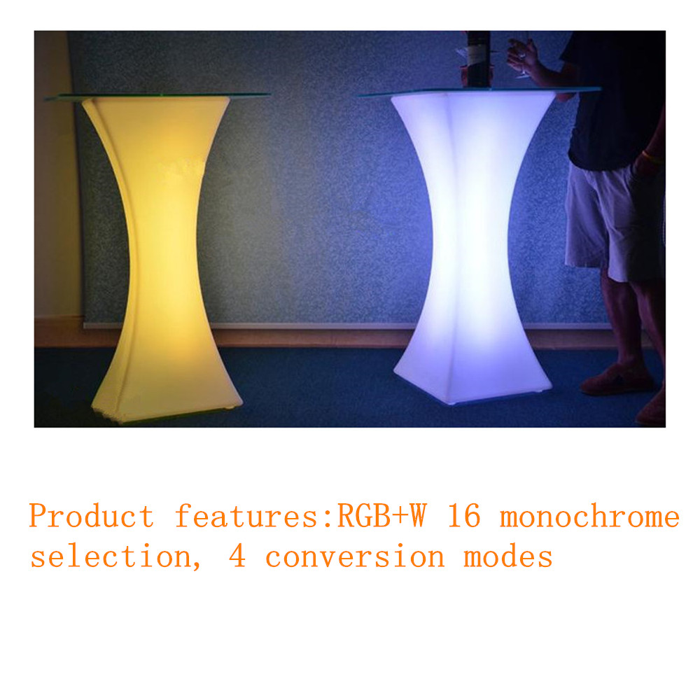 2019 Led Luminous Cocktail Table Bar Creative Lighting Furniture Round Plastic Table Coffee Table Stool Bar Decoration