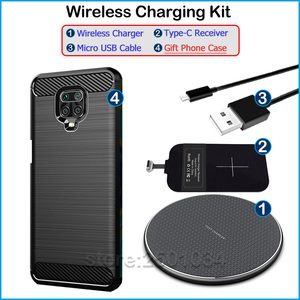 Image 5 - Qi Wireless Charging for Xiaomi Redmi Note 9S Qi Wireless Charger+USB Type C Receiver Nillkin Adapter Gift TPU Case