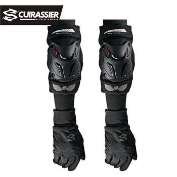 Cuirassier Motorcycle Knee Guards Motorbike Motocross Racing Elbow Pads Protector Adjustable ATV RC Kneepad Aults Men