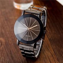 Fashion Casual Mens Watches Black Stainless Steel Men Quartz Wristwatch horloge heren montres homme relojes hombre