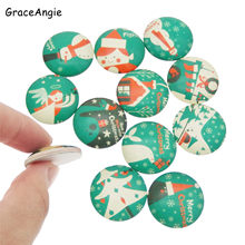 Mix Christmas Glass Cabochon Beads Flat Back Blank Pendants Base Tray merry christmas tree8mm 10mm 12mm 15mm 18mm 20mm 25mm 30mm(China)