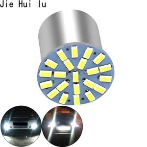 Image 3 - Neue Outdoor Lichter 100 stücke Auto Styling Lampe 1157 1156 Ba15s 22 1206 Led 3014 22smd Led Licht Invertiert Drehen signal bremsleuchte
