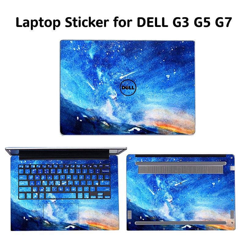 Pegatinas para portátil para DELL G7-7500 G5-5500 G3-3500 cubierta pintada adhesivos de vinilo de PVC para DELL G3 G5 G7 2020 de 2019 de la piel