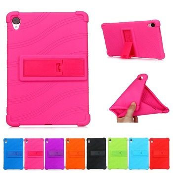 Drop Resistance Falling Stand Soft Silicone Case For Huawei MediaPad M6 8.4 2019 VRD W09 VRD AL09 Tablet Protect Case  + Gift
