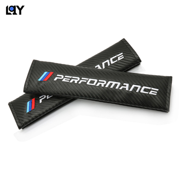 2PC automotive supplies carbon fiber shoulder belt belt cover for BMW M E36 E34 F10 E90 F30 F20 X3 E53 E70 g30 E30 E36 image
