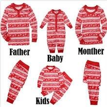 Christmas Family Matching Pajamas Sets Father Mother Kid & B