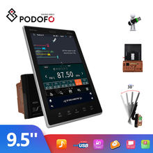 Podofo Android 2Din Car Radio Multimedia Video Player Navigation 9.5'' Vertical screen Car MP5 Player Bluetooth WIFI FM No DVD