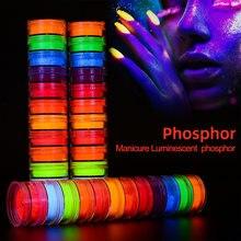 12color Neon Pigment Powder Fluorescent Nail Shinny Glitter Ombre Chrome Dust DIY Polish Manicure For Nails Design