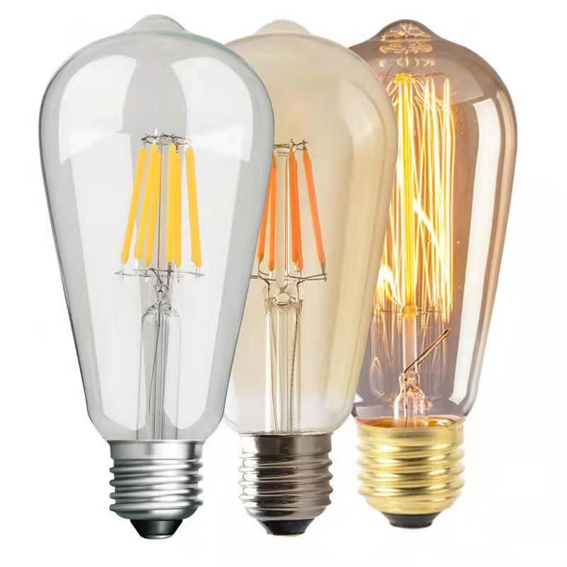 2pcs/lot SCR Dimming Led Filament  ST64 E27 Bulb And Vintage Edison ST64 Bulb