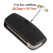 5 шт./лот 20X7 мм Овальный Автомобильный ключ логотип наклейка, 18X7 мм наклейка с эмблемой для автомобиля