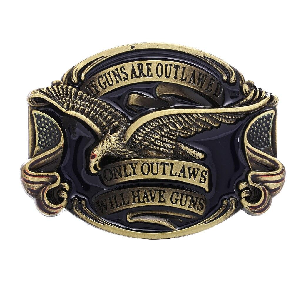 Vintage Eagle Belt Buckle Western Cowboy Jeans Belt Accessories For Women Men