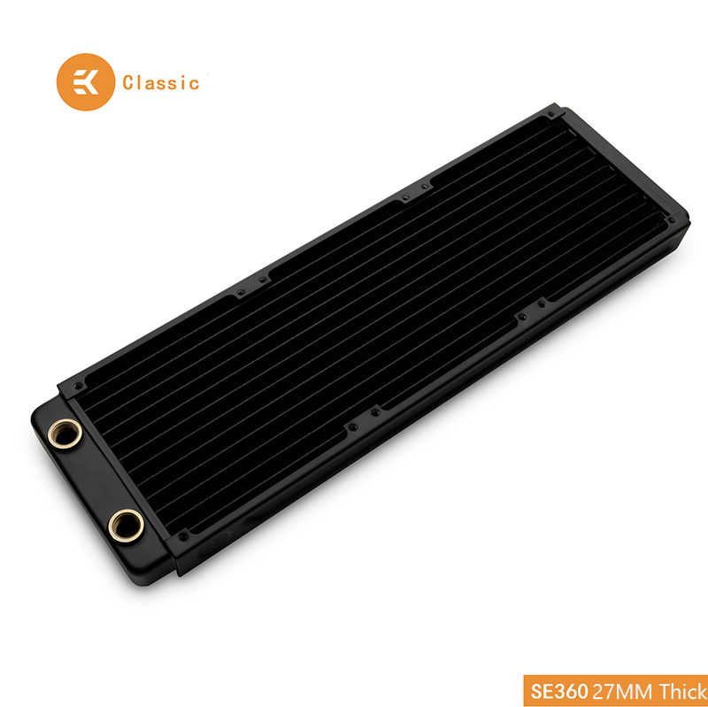 EKWB EK-CoolStream Classic SE 360mm Copper Black Thin Radiator 393 X 120 X 27mm (L X W X H) G1/4 ,Water Cooling Heat Dissipation