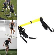9 видов стилей нейлоновые ремни ловкость лестница для футбола скорость тренировки лестницы футбол тренировка скорости в футболе спортивное оборудование