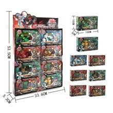 TAKARA TOMY – ensemble de valeurs BAKUGANES, jouet pour enfants, cadeau d'anniversaire, modèle de décoration, Total 8 16 cartes et tampons magnétiques
