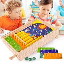 Pinballs Wooden Board Game Interactive Flipper Jeux Toys For Adult Children Desktop Games Dropshipping