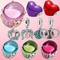 Новый 2021 серебряные бусины 925 пробы сверкающие ко Дню Святого Валентина серии, брелоки, подходят к оригинальным браслетам Pandora, для женщин, с...