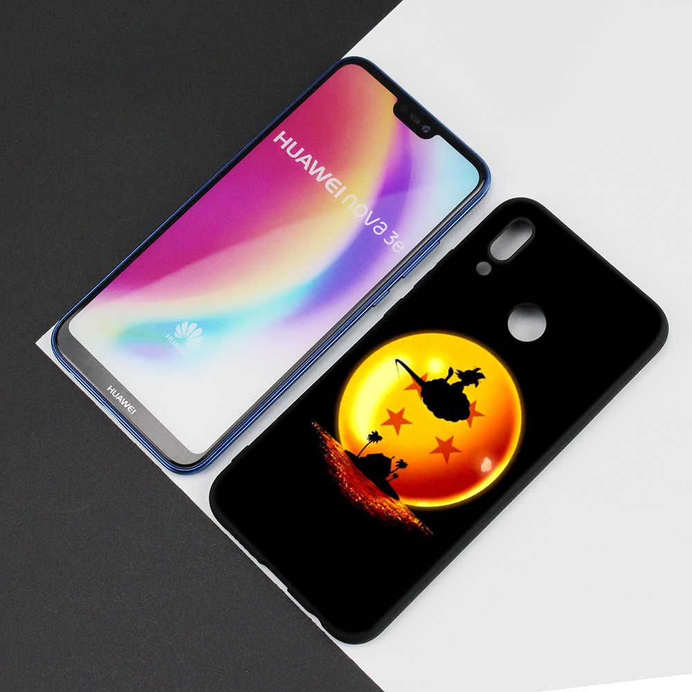 Preto Silicone Case Capa Bag para Huawei P30 P20 P10 P9 Companheiro 10 20 30 Nota 5 5i Lite Pro P Z Inteligente 2019 Shell super dragon ball