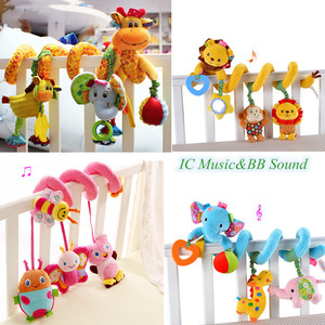 Image 1 - baby toys 0 12 months crib mobile bed bell rattles educational toy for Newborns Car Seat Hanging infant Crib Spiral Stroller Toy