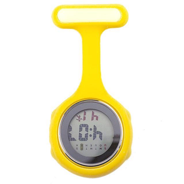 1Pc Pockets Watch Women's Digital Display Dial Clip On Fob Nurse Brooch Pin Hang Pocket Electric Watch