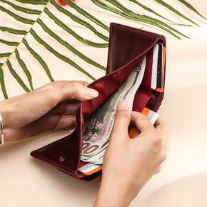 Image 3 - מיני נשים ארנק וארנקים יוקרה מותג קטן מטבע ארנק ארנקים רזים RFID Cartera Mujer דק גבירותיי ארנקי כסף שקית portfel
