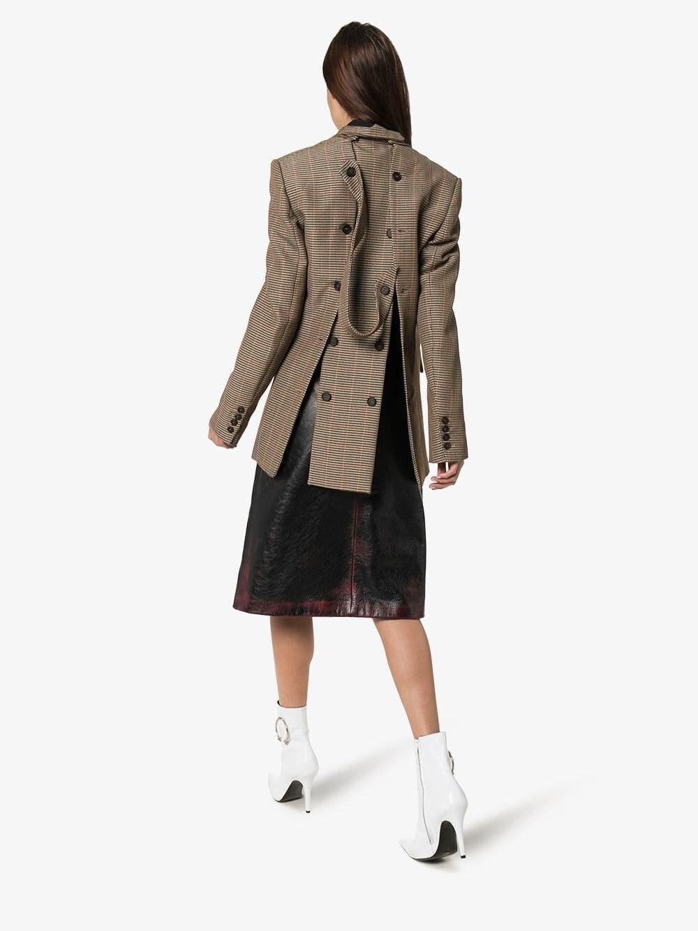 IHOBBY Zurück Taste Frauen Plaid Blazer Mujer Herbst Neue Europäische Station Original Design Weibliche Blazer und Jacken - 2