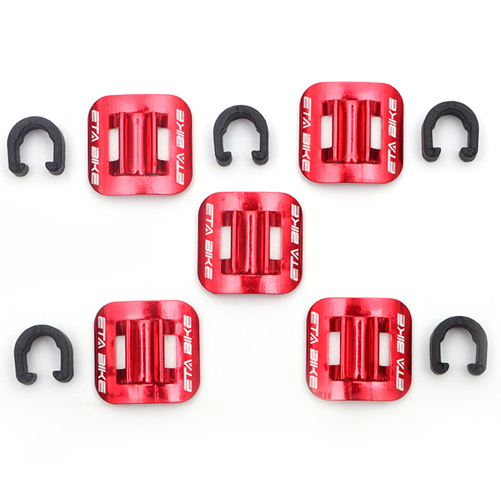 5Pcs/lot Bicycle Guide Seat C Shape Aluminum Buckle Clip Bike Brake Cable Tubing Conversion Oil Tube Fixed Clamp Frame #2