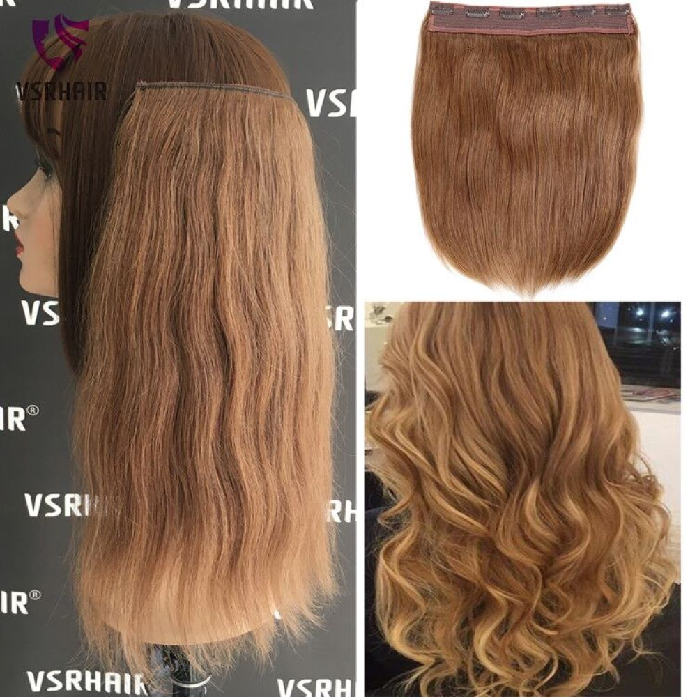 VSR 120g 150g Clip In Human Hair Easy Do Clip Ins European Thickness Hair Ends Machine Remy Hair Style Halo Hair Extension