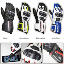 GK 198 Carbon Protect Gloves Motorcycle Race Touring Breathable Touch Screen Black Neon guantes moto