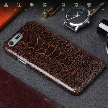 Real Ostrich foot skin leather For Sony Xperia X Z Z2 Z3 Z4 Z5 XZ2 XZ4 Compact XA XA1 XA2 Ultra XZ1 XZ Premium 5 8 10 Plus Case