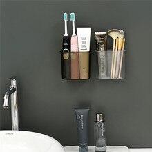 Настенный ящик для хранения для ванной комнаты пробивная зубная щетка зубная паста мусор настенная трубка для хранения ванной комнаты Organizador