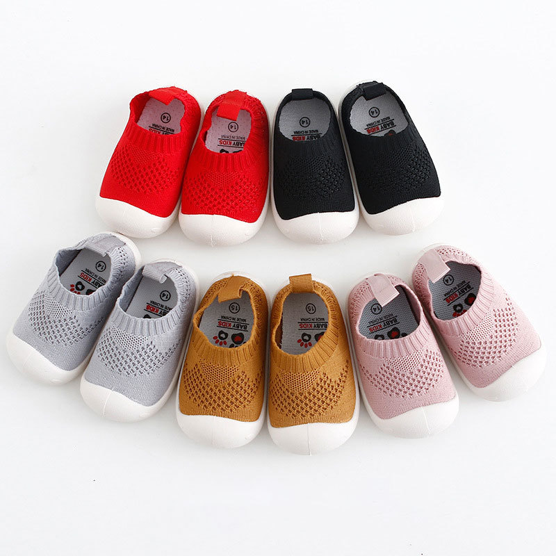 2019 New Baby Infant Shoes Toddler Shoes Baby Soft Bottom Shoes Boys And Girls Shoes Knitted Indoor Shoes First Walkers Shoes