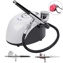 Nozzle Compressor Spray-Gun Airbrush-Kit Paint Nail-Art Dual-Action with for 2cc/7cc-Cup