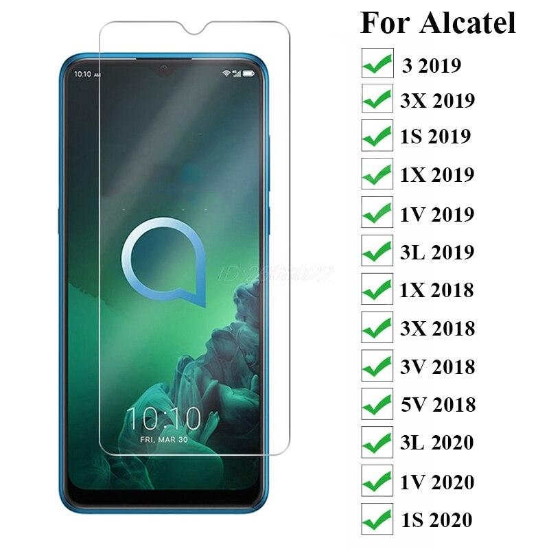 Закаленное стекло для Alcatel 3-1 шт., Защитное стекло для экрана Alcatel 3 3x1S 1X 1V 3L 2019 2020, закаленное стекло для Alcatel 1X 3X 3V 5V 2018