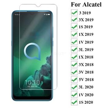 3-1Pcs Tempered Glass For Alcatel 3 3x 1S 1X 1V 3L 2019 2020 Screen Protector Tempered Glass For Alcatel 1X 3X 3V 5V 2018 Glass* liberty project tempered glass защитное стекло для alcatel onetouch idol 4s 6070k 0 33 мм