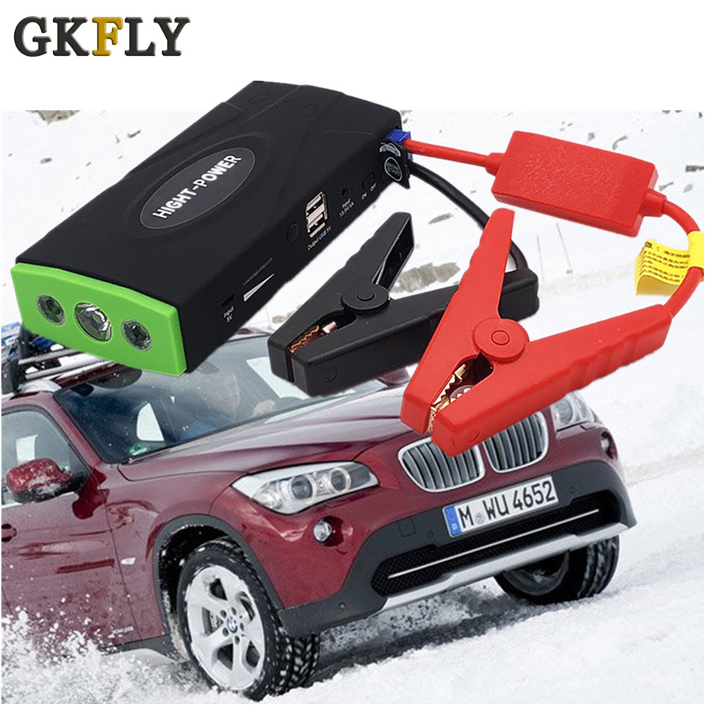 GKFLY Emergency Car Jump Starter 600A Portable Starting Device Power Bank 12V Petrol Diesel Car Charger For Car Battery Booster