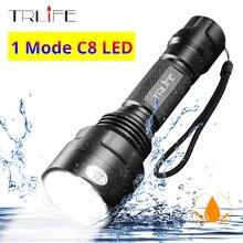 C8 1 tryb profesjonalnego latarka myśliwska latarka taktyczna T6 L2 latarka LED wodoodporna aluminium profil z aluminium, piesze wycieczki na kempingu 18650
